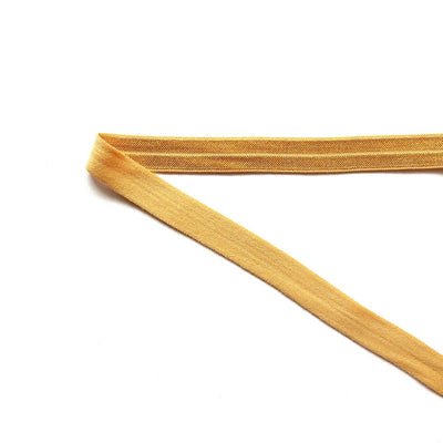 Old Gold Fold Over Elastic Trim