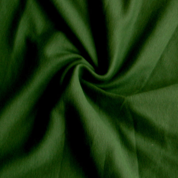Olive Green Cotton Rib Knit Fabric