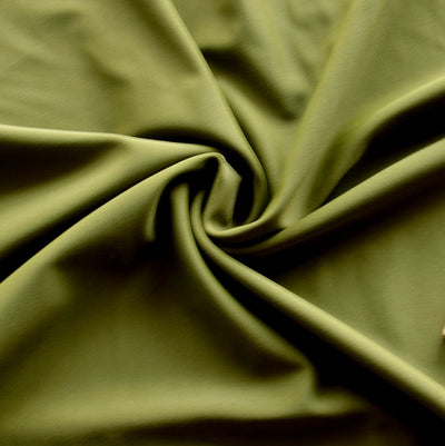 Olive Green Nylon Spandex Swimsuit Fabric