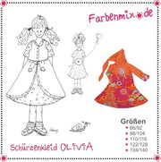 Olivia Pinafore Dress Sewing Pattern by Farbenmix