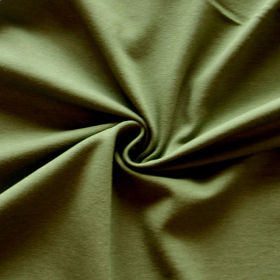 New Olivine Bamboo Organic Cotton Spandex Jersey Knit Fabric