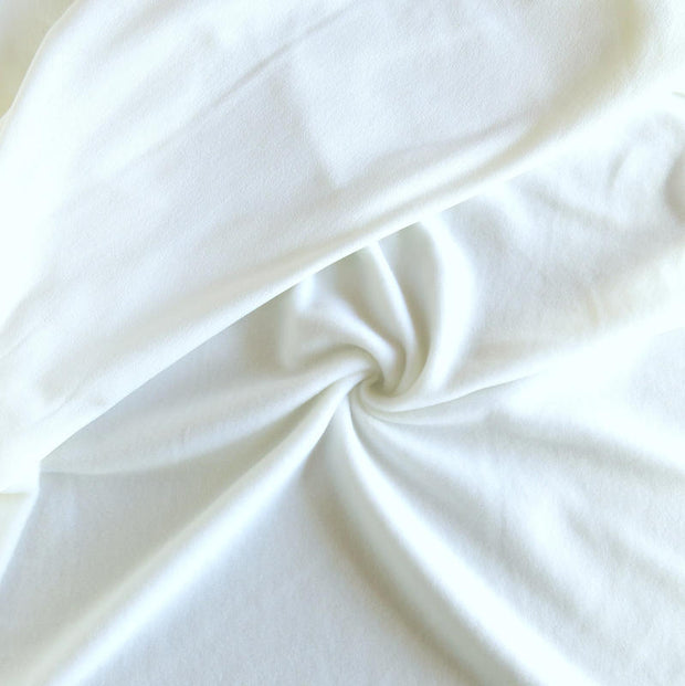 White Repreve Powerstretch Fleece Knit Fabric