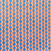 Orange and Royal Fleur de Lis Nylon Spandex Swimsuit Fabric