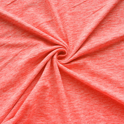 Orange Soda Space Dye Poly Lycra Knit Fabric