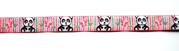 Pandas and Bamboo Woven Ribbon Trim