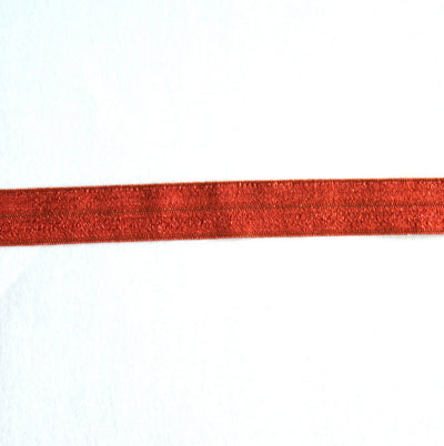 Paprika Fold Over Elastic Trim
