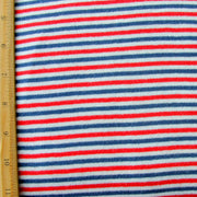 Patriotic Narrow Stripe Cotton Knit Fabric