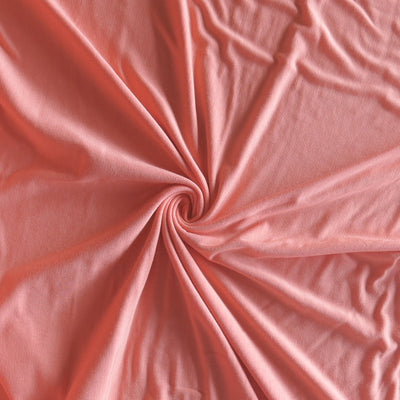 Peach Echo Bamboo Spandex Jersey Knit Fabric