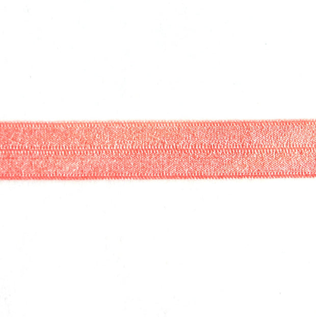 Peach Fold Over Elastic Trim
