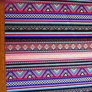 Peach, Royal, Hot Pink, Mint Tribal Stripe Nylon Lycra Swimsuit Fabric
