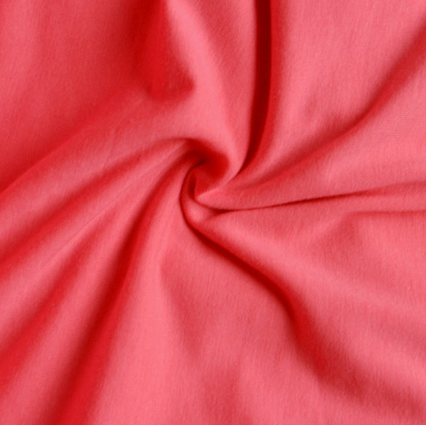 Peachy Pink Bamboo Cotton Lycra Jersey Knit Fabric