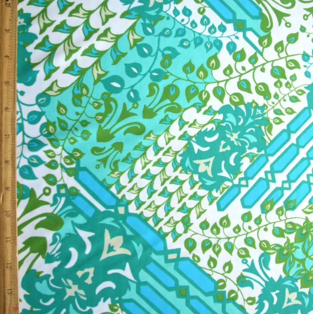 Peacock, Teal, Olive, and Turquoise Nylon Lycra Swimsuit Fabric