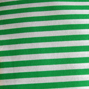 "Peppermint Green and White 3/8"" wide Stripe Cotton Lycra Knit Fabric"
