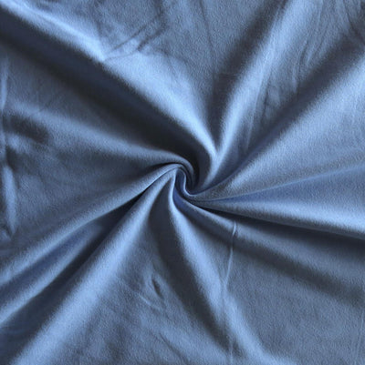 Periwinkle Blue Heavy Cotton Rib Knit Fabric