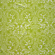 "Pineapple Paisley on Chartruese Nylon Lycra Swimsuit Fabric - 18"" Remnant"