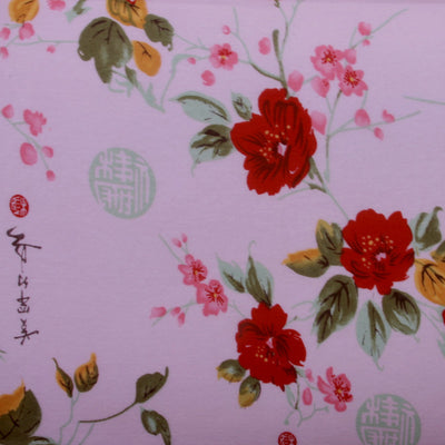 Pink Asian Cotton Knit Fabric
