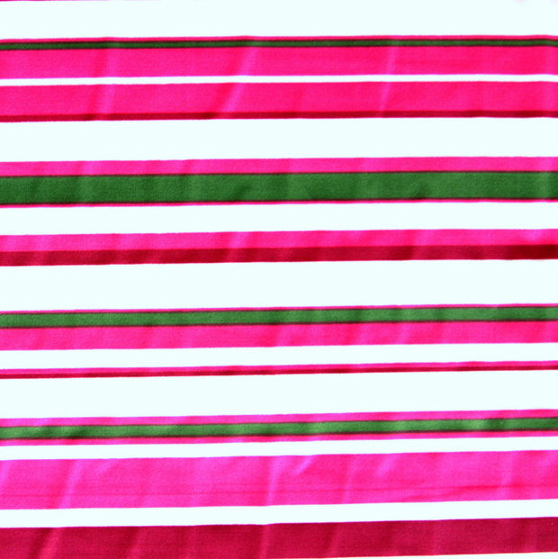 Pink and Green Multi Stripe Nylon Lycra Swimsuit Fabric