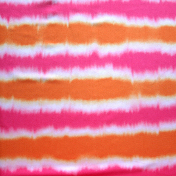 Pink/Orange Ombre Stripes Nylon Lycra Swimsuit Fabric - Seconds - Not Quite Perfect