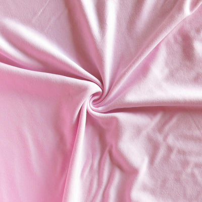 Pink Parasol Cotton Interlock Fabric