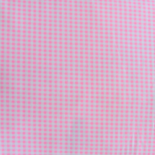 Pink and White Gingham Nylon Lycra Swimsuit Fabric