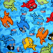 Pirate Sharks Microfiber Boardshort Fabric