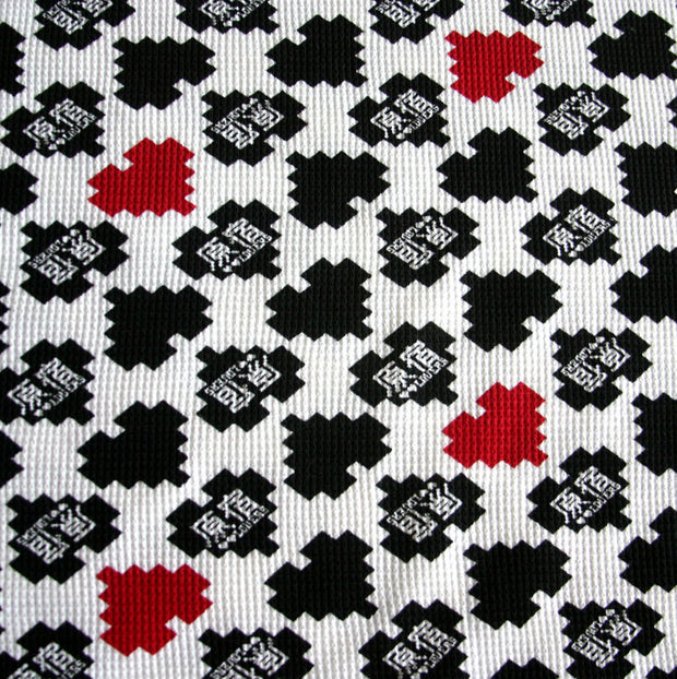 Pixel HJ Hearts Cotton Thermal Knit Fabric