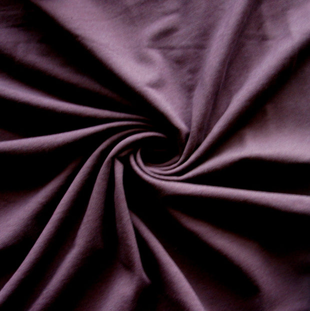 Plum Bamboo Cotton Lycra French Terry Fabric