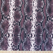 Plum Vertical Python Poly Spandex Swimsuit Fabric