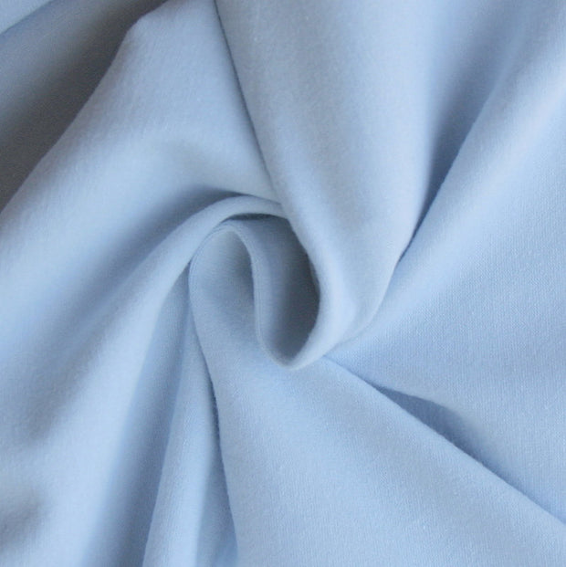 Light Blue Cotton Lycra French Terry Fabric