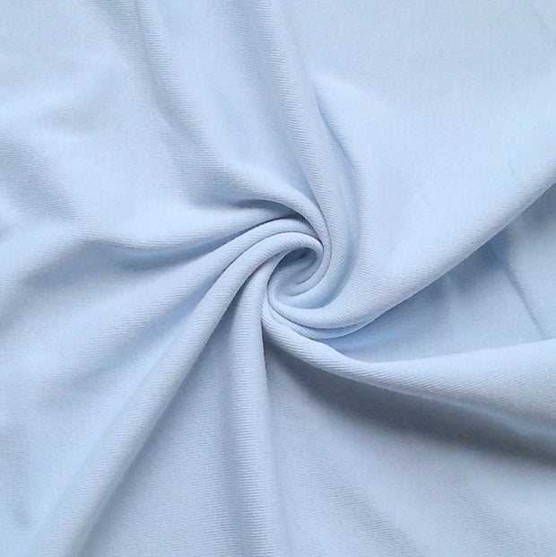 Powder Blue Tubular Cotton Rib Knit Fabric