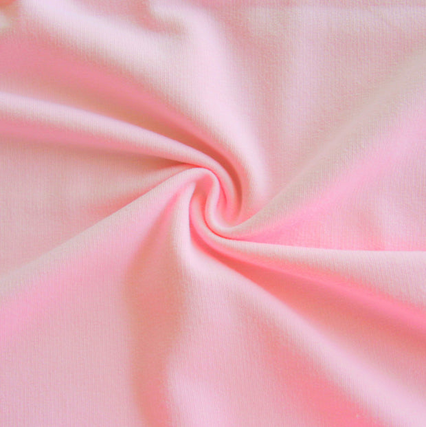 Powder Pink Cotton Lycra French Terry Fabric