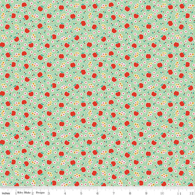 Apple Fresh Green Cotton Lycra Knit Fabric by Riley Blake