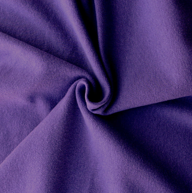 Grape Cotton Lycra French Terry Fabric