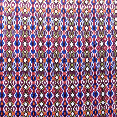 Purple, Coral, and Royal Diamonds Nylon Spandex Swimsuit Fabric