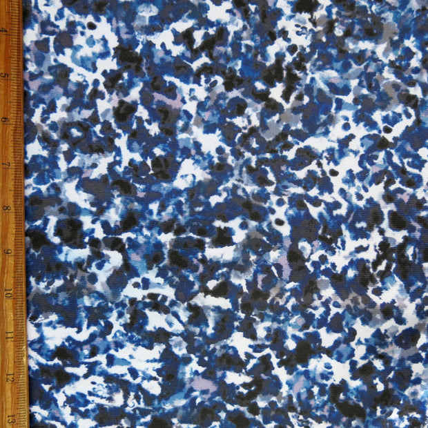 Purple, Navy, Black Splotches Nylon Spandex Swimsuit Fabric