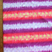 Purple, Orange Ombre Sun Stripe Nylon Lycra Swimsuit Fabric