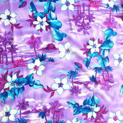 Purple Paradise Nylon Spandex Swimsuit Fabric