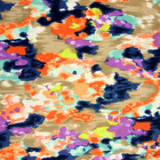 Purple, Peach, Taupe, Navy Abstract Nylon Lycra Swimsuit Fabric