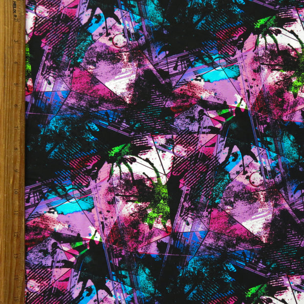 Purple/Pink Abstract Nylon Spandex Swimsuit Fabric