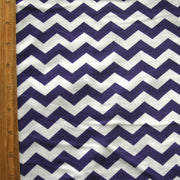 Purple and White Chevrons Cotton Lycra Knit Fabric