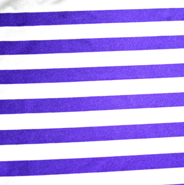 Purple and White Stripe Nylon Lycra Swimsuit Fabric