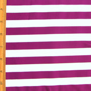 Purple and White Stripes with Silver and Gold Accents Swimsuit Fabric