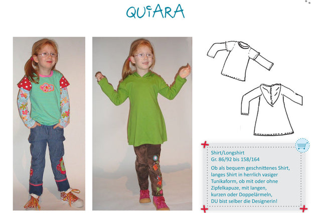 Quiara Hoodie Shirt Sewing Pattern by Farbenmix