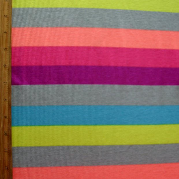 Rave Rainbow Cotton Knit Fabric