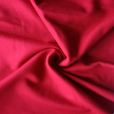 "Red Bamboo Cotton Lycra French Terry Fabric - 32"" Remnant"