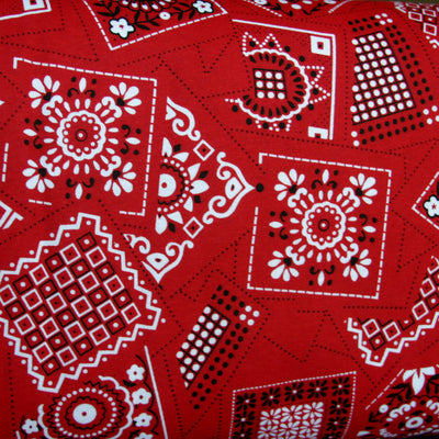 Red Bandana Cotton Knit Fabric