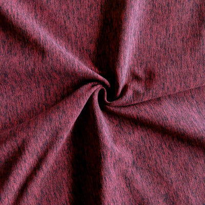 Red/Black Marl Poly Spandex Jersey Knit Fabric