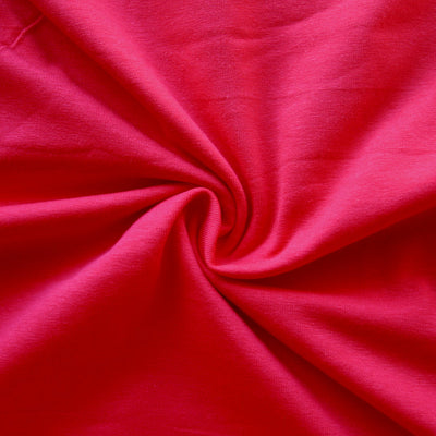 Tomato Red 10 oz. Cotton Lycra Jersey Knit Fabric