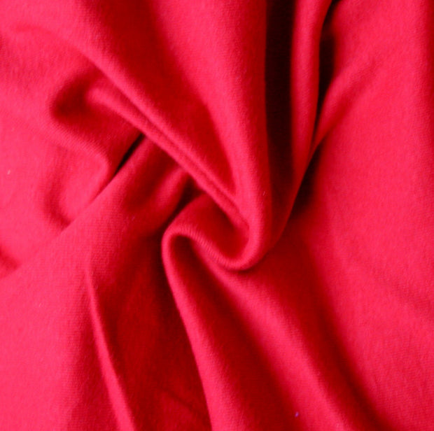 Red Cotton Rib Knit Fabric