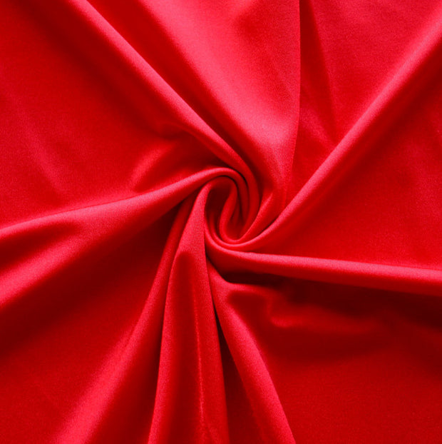 Red Solid Nylon Spandex Tricot Specialty Swimsuit Fabric